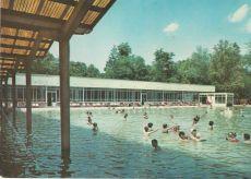 Harkány - képeslap, gyógyfürdő, 1968