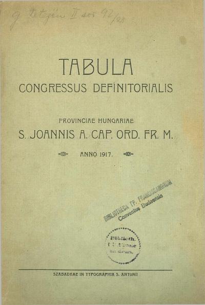 Tabula congressus definitorialis