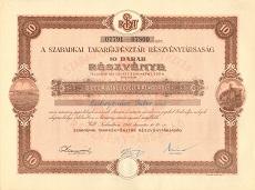 A Szabadkai Takarékpénztár Rt. összevont részvénye 1000 pengőről