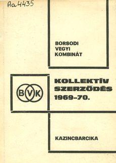 Kollektív szerződés 1969-70.
