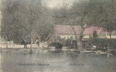 Görömböly-Tapolca - képeslap, strandfürdő, 1923