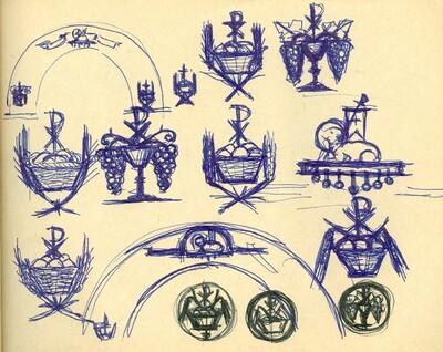 Diadalív tervek és jelképvázlatok