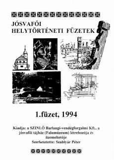 Jósvafői helytörténeti füzetek