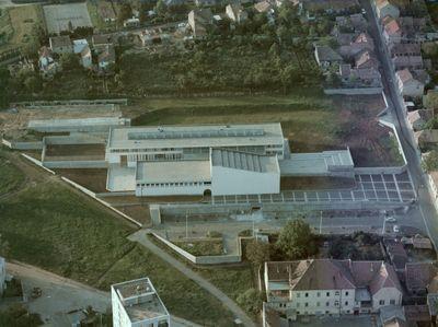 Légifotó a pécsi Művészeti Gimnáziumról