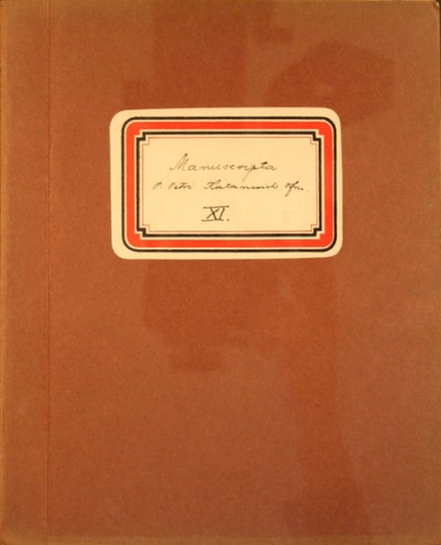 Manuscripta P. Petri Katancsic OFM