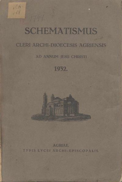 Schematismus Cleri archi-dioecesis Agriensis