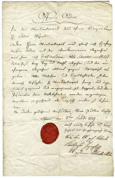 Nyílt parancs, 1809. nov. 4.