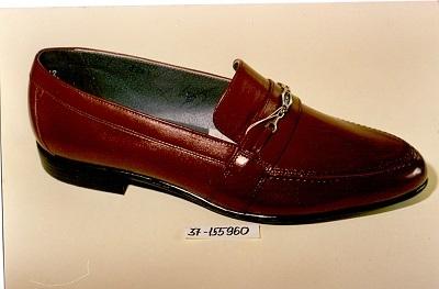 Női cipő - Barna bőr félcipő
