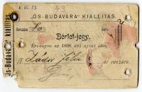 Bérletjegy az Ős-Budavára kiállításra, 1898