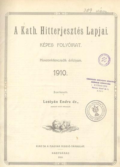 A Kath. Hitterjesztés Lapjai