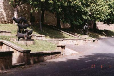 Káptalan utcai szobrok