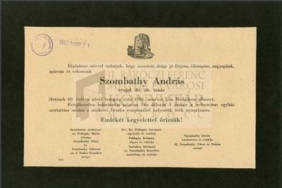 Győri Sándor gyászjelentése