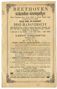 Beethoven-centenáriumi dísz-hangverseny a Vigadóban, 1870