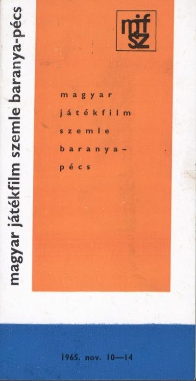 A Pécsi Filmszemle programfüzete