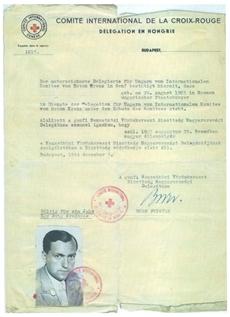 Nemzetközi Vöröskereszt Védlevél - Friedrich Born (Born Frigyes) által kiállítva