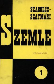 Szabolcs-Szatmári Szemle 1966 1