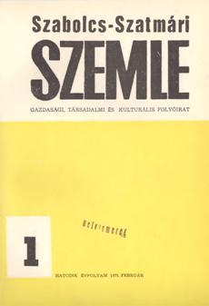 Szabolcs-Szatmári Szemle 1971 1