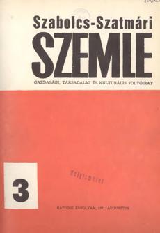 Szabolcs-Szatmári Szemle 1971 3