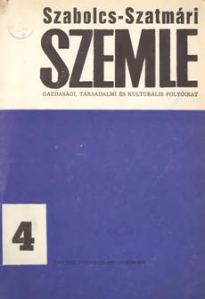 Szabolcs-Szatmári Szemle 1971 4