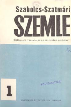 Szabolcs-Szatmári Szemle 1974 1