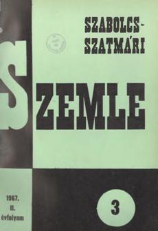 Szabolcs-Szatmári Szemle 1967 3