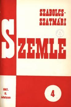 Szabolcs-Szatmári Szemle 1967 4