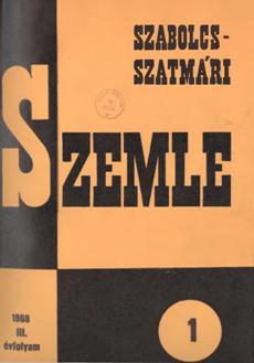 Szabolcs-Szatmári Szemle 1968 1