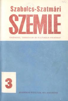 Szabolcs-Szatmári Szemle 1974 3