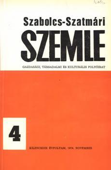 Szabolcs-Szatmári Szemle 1974 4