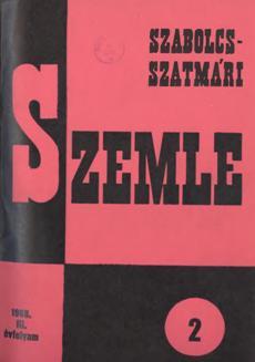 Szabolcs-Szatmári Szemle 1968 2