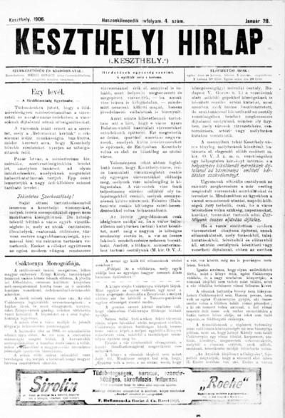 Keszthelyi Hírlap 1906.01.28.