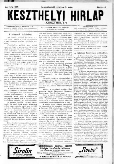 Keszthelyi Hírlap 1906.03.04.