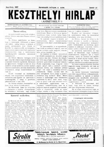 Keszthelyi Hírlap 1907.01.27.