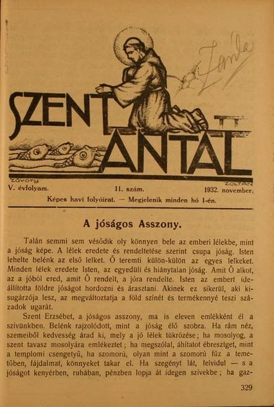 Szent Antal 1932. november