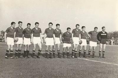 A magyar futball válogatott csapat Martfűn