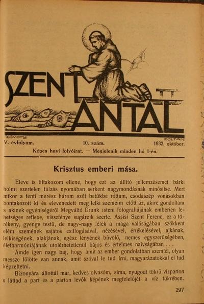 Szent Antal 1932. október