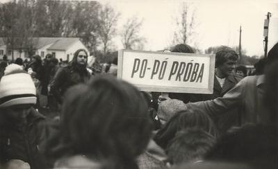 Május 1-jei, április 30-i ifjúsági vetélkedő, Po-pó próba