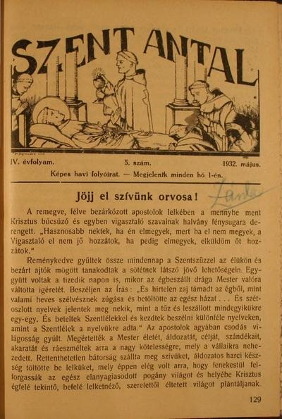 Szent Antal 1932. május