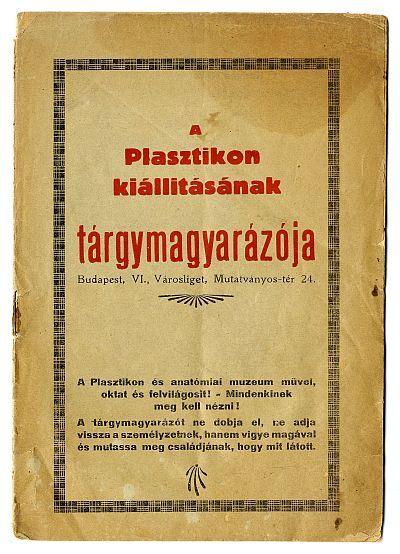 A Plasztikon (Városliget) kiállításának tárgymutatója, 1930-as évek közepe