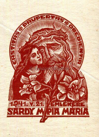 Sárdy Mpia Mária Castitas Paupertas Obedientia