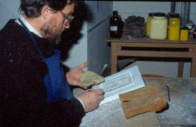 Színes dia, kályhacsempe készítése, Pápa