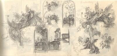 Szombathelyi freskóterv vázlatok, angyalalak ábrázolások