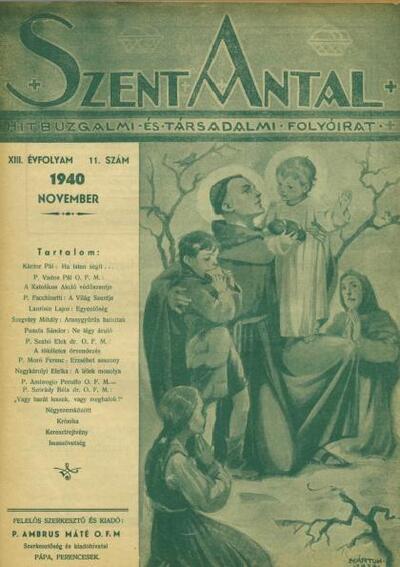 Szent Antal 1940. november