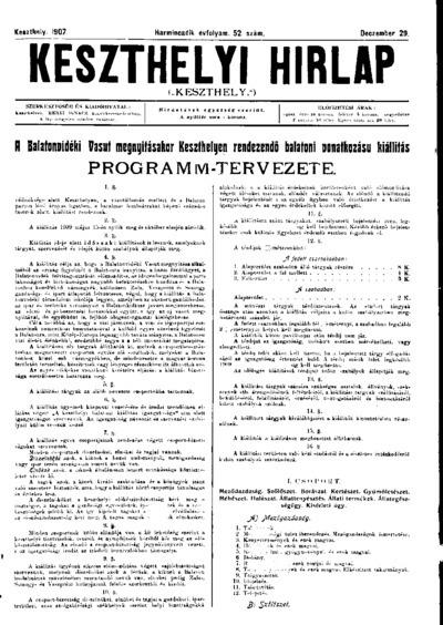 Keszthelyi Hírlap 1907.12.29.