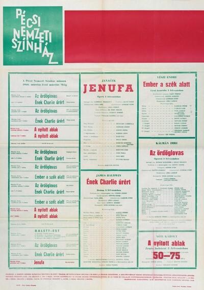 Pécsi Nemzeti Színház 1966. március havi műsora