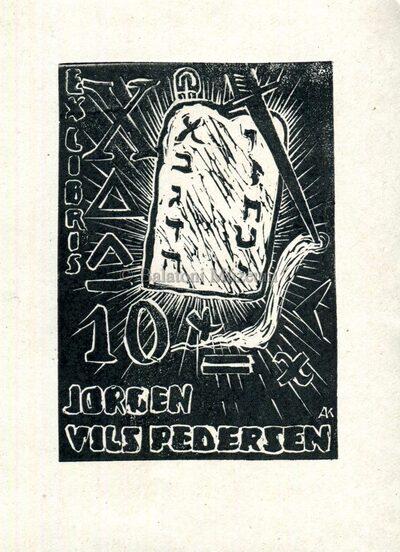 Ex libris Jörgen Vils Pedersen