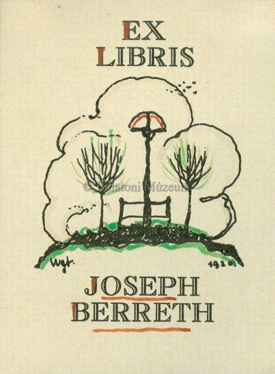 Ex libris Joseph Berreth