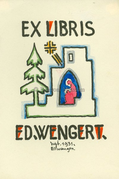 Ex libris Ed. Wengert