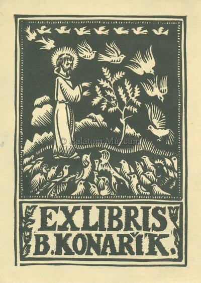 Ex libris B. Konarik