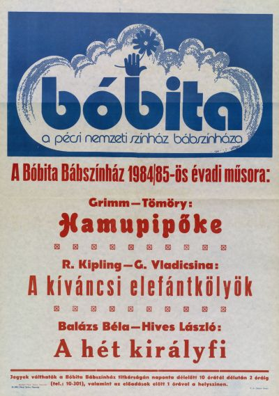A Bóbíta Bábszínház 1984/85-ös évadi műsora